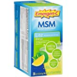 Emergen-C MSM Super Energy Booster Fizzy Drink Mix, 1000 mg, Lite, Citrus, 0.2-Ounce Packets in 30-Count Boxes