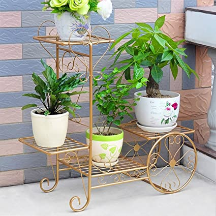 FriendShip Shop Flower Racks  Garden Cart Stand U0026 Flower Pot Plant Holder  Display Rack,