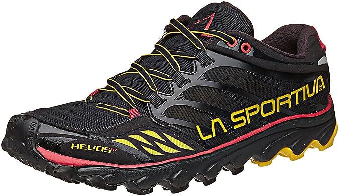 La Sportiva Helios SR Zapatillas de Correr - SS18 - Negro/Amarillo, 37.5: Amazon.es: Zapatos y complementos