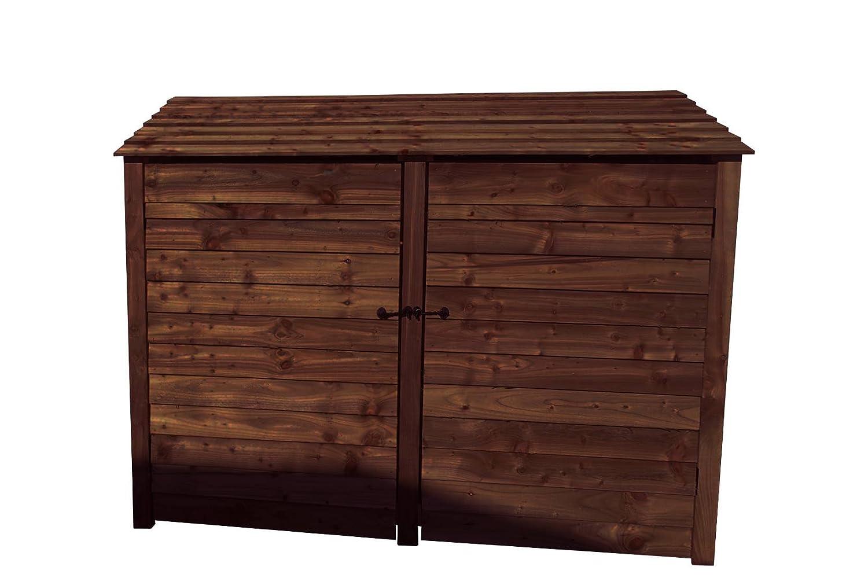 6 ft Heavy Duty tratada a presión de fresno Log Store con puertas - Cobertizo para leña y madera - Accesorio de: Amazon.es: Jardín
