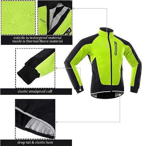 ARSUXEO Veste de cyclisme dhiver pour homme en polaire thermique Softshell coupe-vent imperm/éable 20B