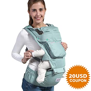 f94d2a07f38 Amazon.com   Baby Carrier Backpack with Hip Seat