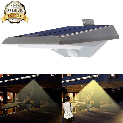iThird Luces Solares LED con Sensor de Movimiento,Iluminación de Exterior y Seguridad con 18