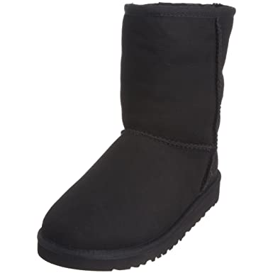 UGG Australia Girl\u0027s Classic, Black, 1 M US Little Kid