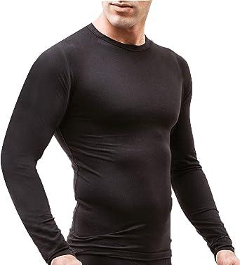 Ropa Interior térmica de Manga Larga para Hombre, Camiseta Interior de esquí para Invierno, Tallas M-3XL, Todo el año, Hombre, Color Negro, tamaño Large: Amazon.es: Ropa y accesorios