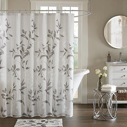 Amazon Com Cecily Botanical Modern Shower Curtain Contemporary