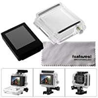 Fantaseal® LCD BacPac External Monitor Display Viewer for Gopro Hero 3 w/ Gopro Back Cover Protective Case Gopro Waterproof Housing Backdoor for Gopro Hero 3 (NOT Compatible with GoPro Hero3 White Slim Edition)