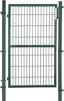 SONGMICS GGD200L GGD200L-Puerta para jardín (Acero galvanizado, Resistente y Duradera, con Cerradura y Llave, tamaño de la Puerta: 150 x 106 cm), Color Verde: Amazon.es: Jardín