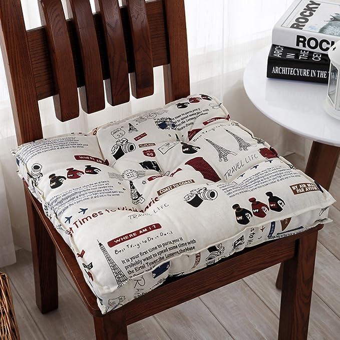 Amazon.com: RYQS - Cojín para silla de invierno gruesa ...