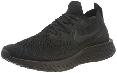 5fcf97791567 Nike Womens Epic React Flyknit Womens Aq0070-003 Size 6.5 Black Black-Black