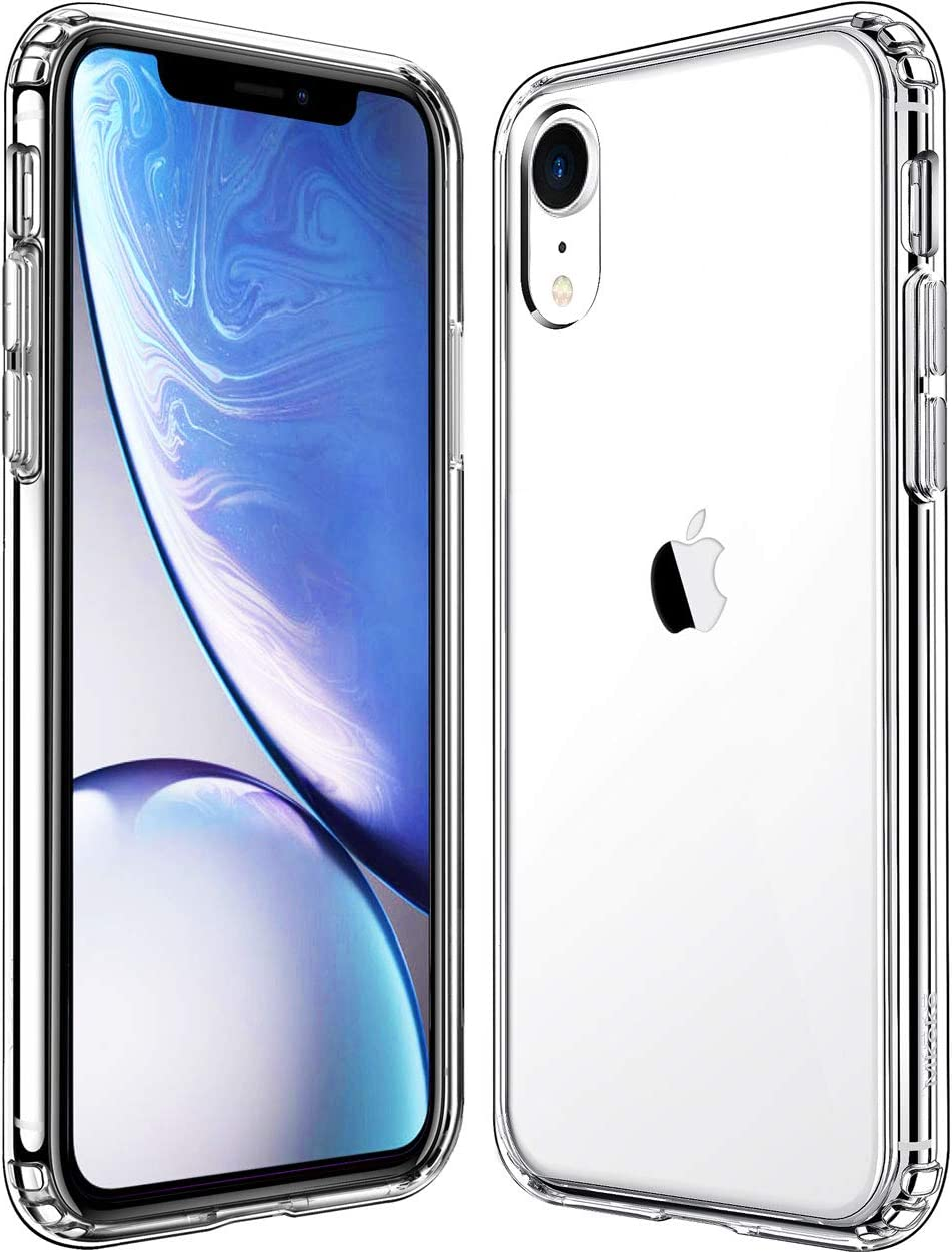 Mkeke Compatible with iPhone XR Case,Clear Anti-Scratch Shock Absorption Cover Case for iPhone XR