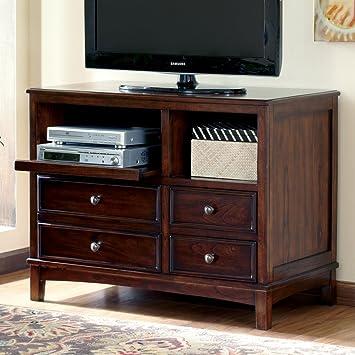 devrik contemporary design medium brown finish home office storage cabinet brown finish home office