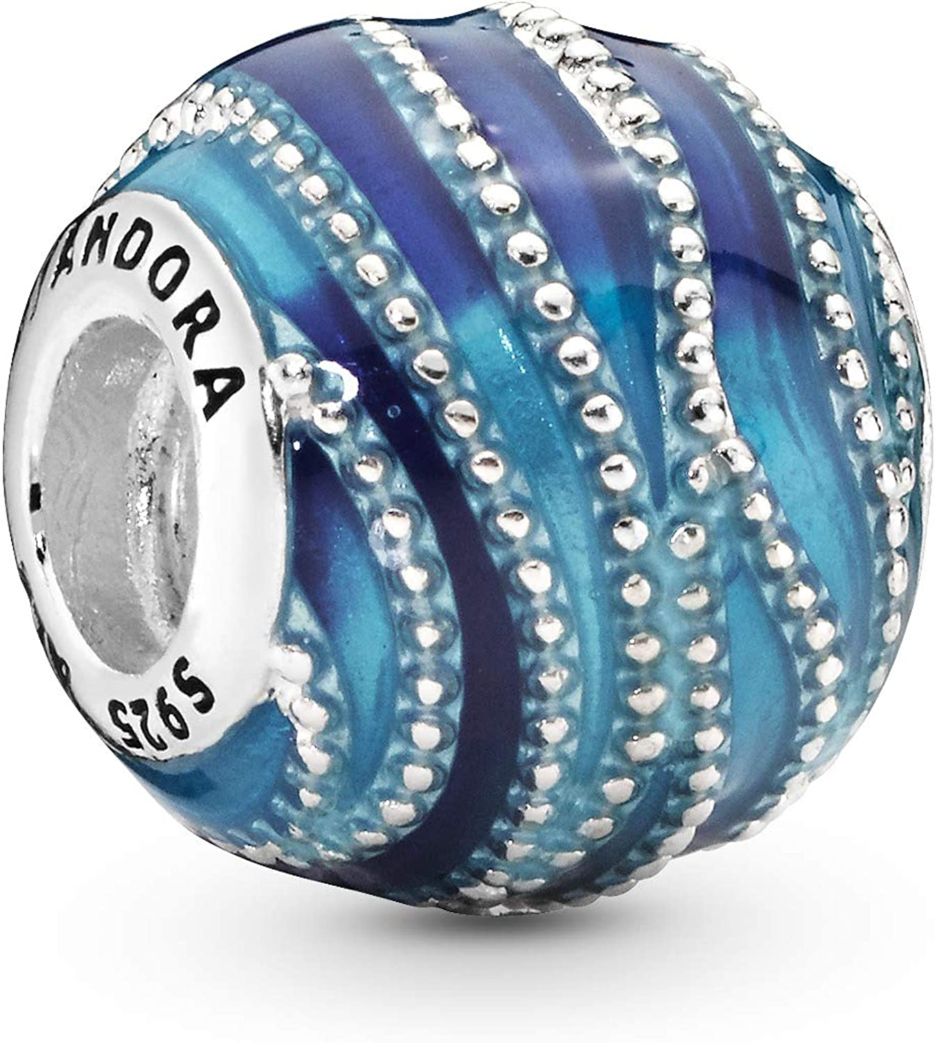 Pandora Jewelry Blue Swirls Sterling Silver Charm