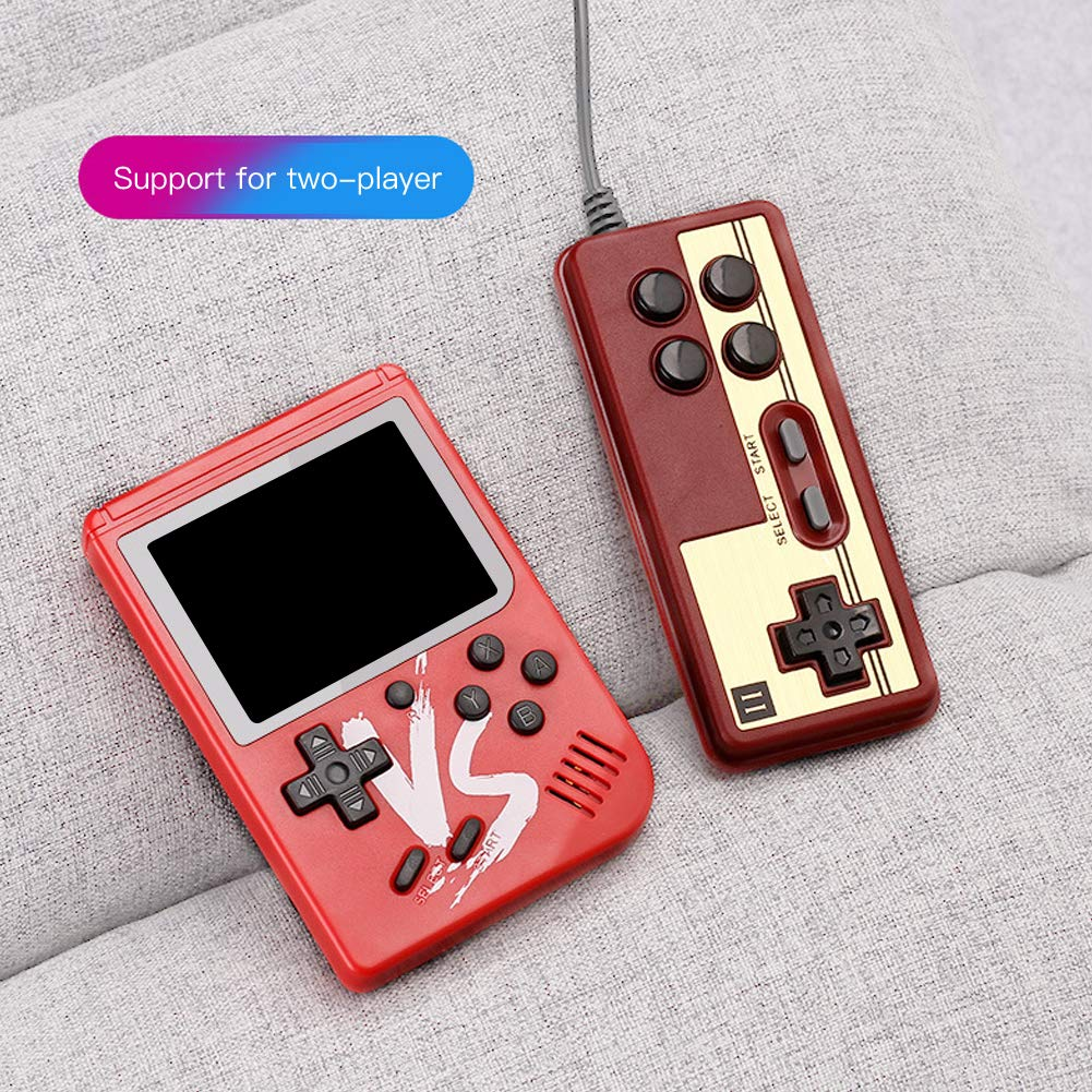 RoJuicy Handheld Game Console, Retro FC Game Console, Video Game Console with 3 Inch Screen 500 Classic Games Support TV Video Game Player tick & 1 Controller for Birthday Presents by RoJuicy (Image #4)