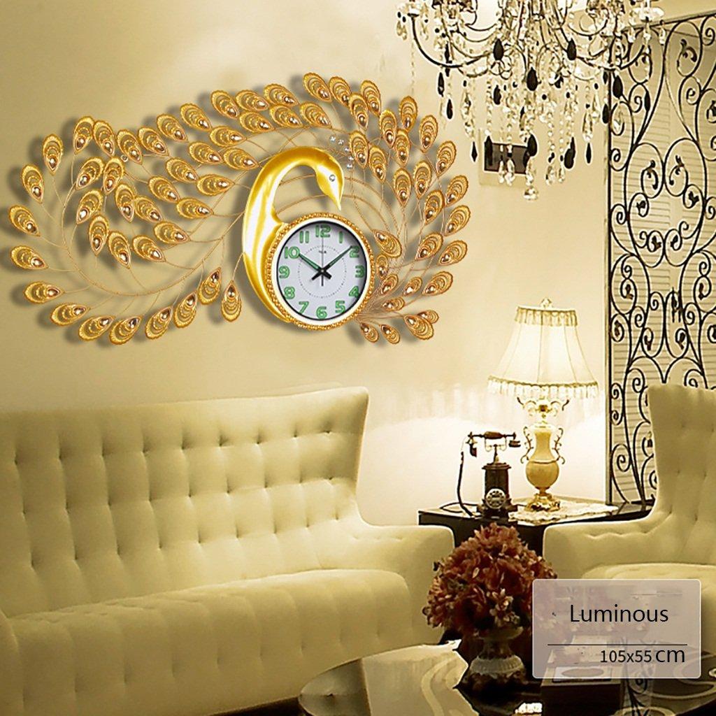 ピーコック創造的なヨーロッパの現代的な装飾時計 大きなサイレントクォーツ時計 (色 : 15) B07F5HHB14 15 15
