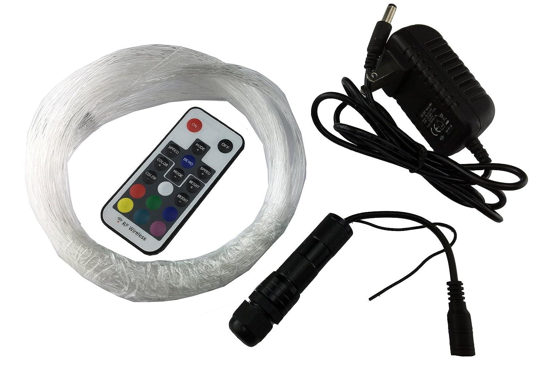 corpereal Diy 12V Multi Color Led Fiber Optic Light Kit For Indoor Home Car Ceiling Wall Lighting Decorations Corpereal tech Ltd