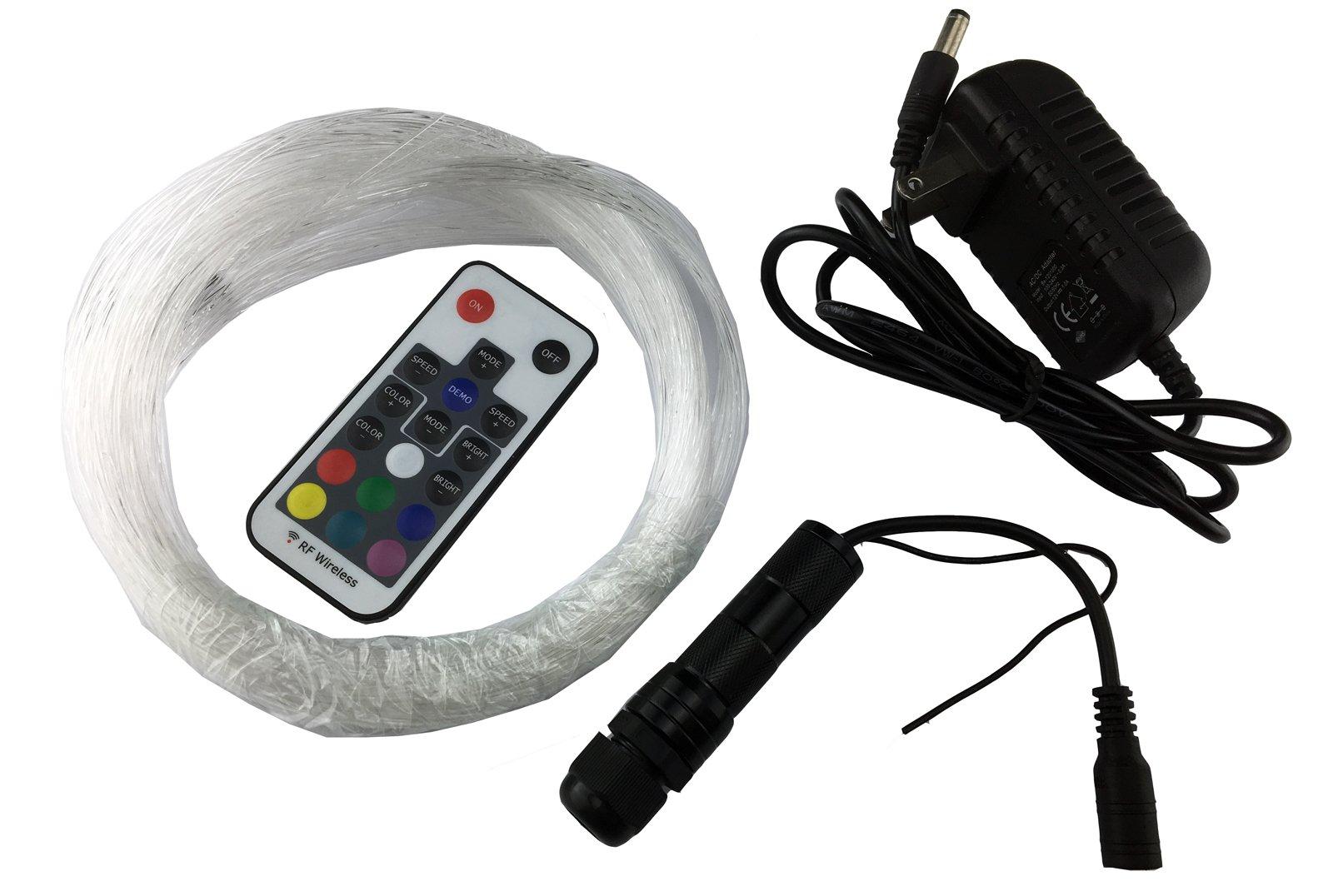 corpereal Diy 12V Multi Color Led Fiber Optic Light Kit For Indoor Home Car Ceiling Wall Lighting Decorations