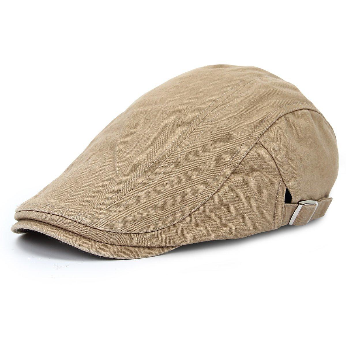 Yodensity Herren Vintage Ivy Gatsby Schiebermütze Flache Golfermütze Sonnenschutz Corduroy Hut