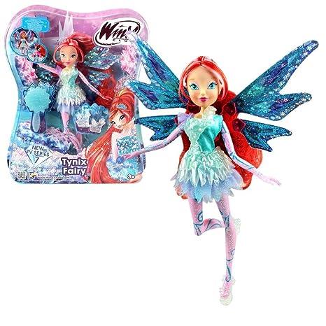 6657f7a355 Winx Club - Tynix Fairy - Bloom Bambola 28cm con magique Robe ...
