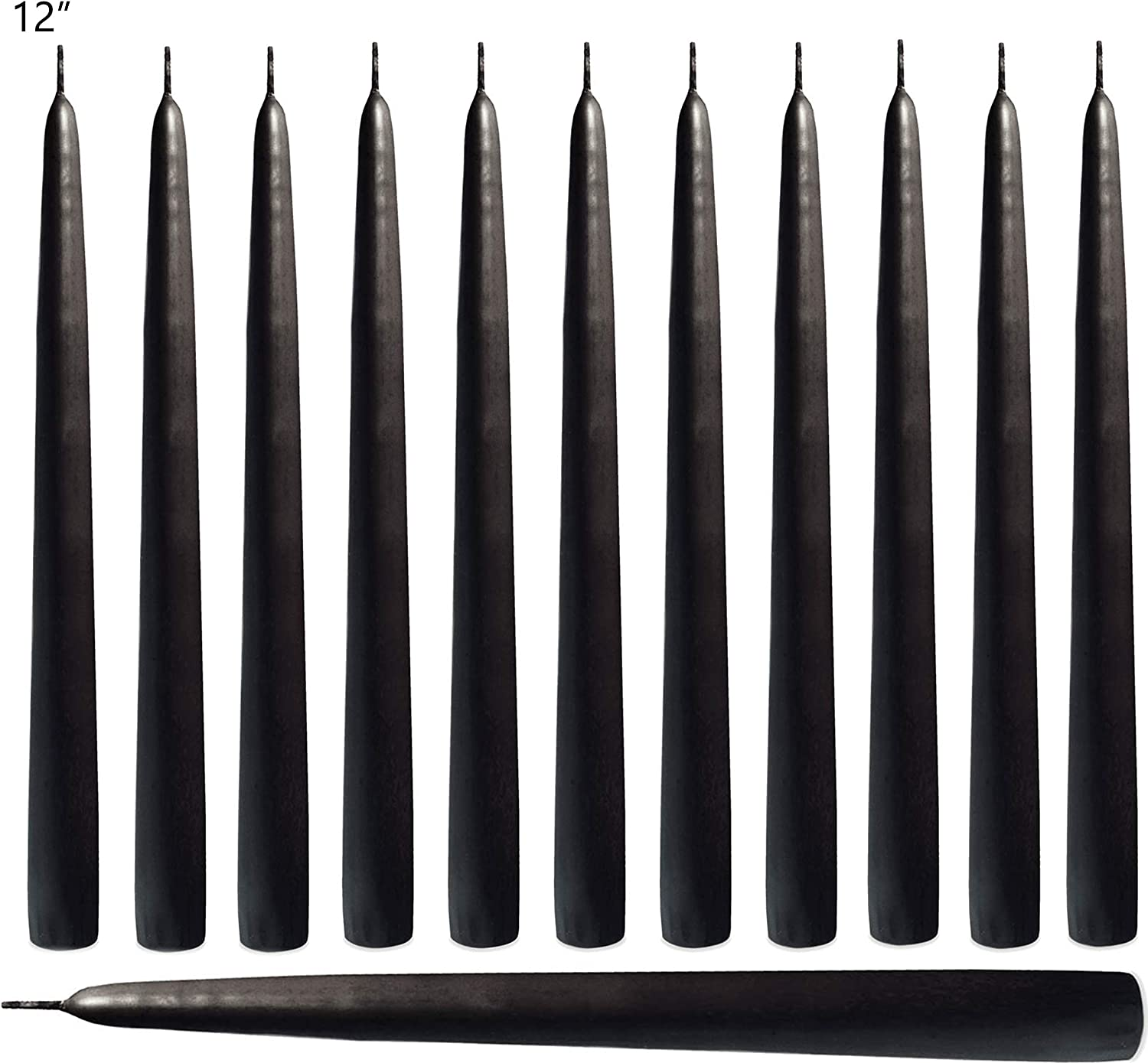 12-Inch Tall Root Unscented Hand Dipped Taper Candles White Box of 12