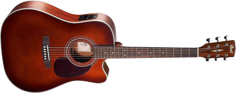 Guitarra acustica electrificada tipo Dreadnought con cutaway