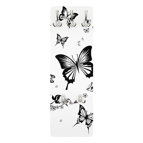 Appendiabiti Da Parete Farfalle.Apalis Appendiabiti Fiori E Farfalle 139 X 46 X 2 Cm