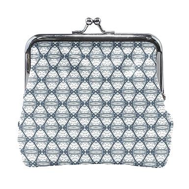 Amazon.com: Monedero para mujer con diseño geométrico simple ...