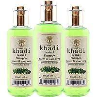 Vagad's Khadi Neem & Aloevera Shampoo 210 ml (Set of 3)