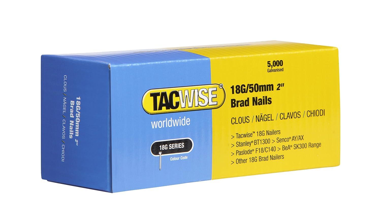 Tacwise Stiftnä gel Verzinkt (25mm, 5.000 Stü ck pro Verpackung) 18G 0396