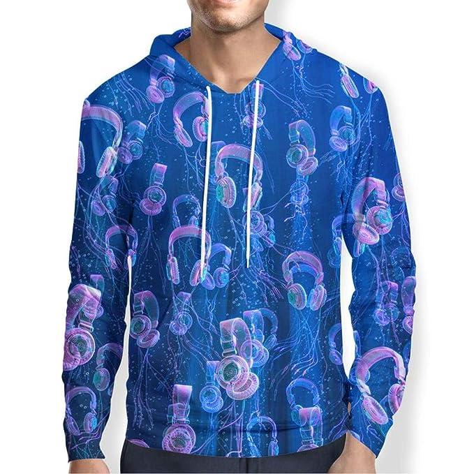 Amazon.com: RMXZ Mens Hoodies Earphone Music Print 3D Pullover Sweatshirts Hoodie Streetwear: Clothing