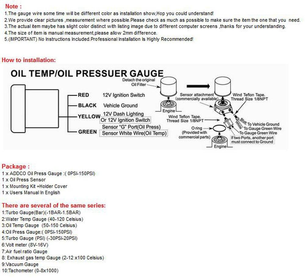 oil meter installation diagram catalogue of schemas transmission oil temperature gauges