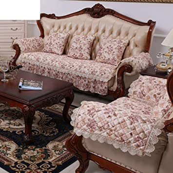 European Style Sofa Cushions/Fabric Leather Sofa Cushion/Four Seasons  Leather Wooden Sofa