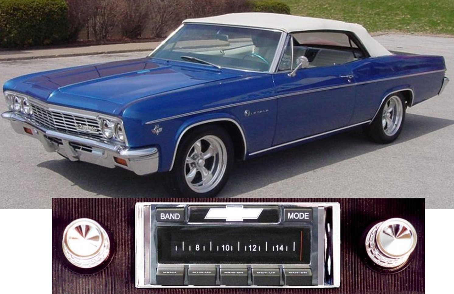 Bluetooth Enabled 1966 Chevy Impala Caprice Usa 630 Ii Parts High Power 300 Watt Am Fm Car Stereo Radio Usb Aux Ipod Inputs Electronics