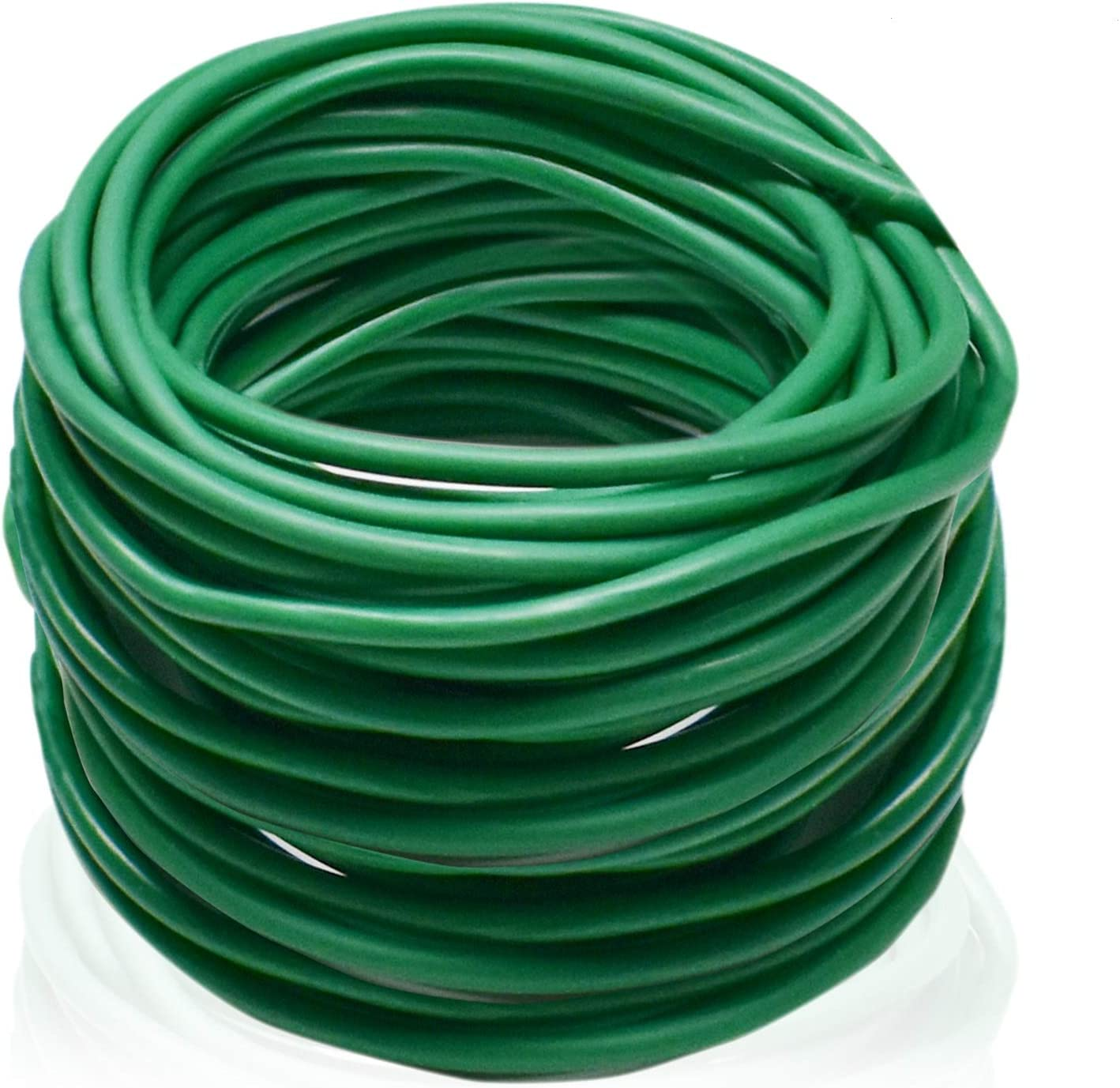 Halatool 65.6 Feet Green Soft Plant Tie, Reusable Garden Plant Twist Tie, Garden Wire Tie for Support Tomato Branches Vines and Stalks