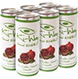 Ki-Way SLIM Natural Energy Drink (Pomegranate), Heart Health and Blood Sugar Support, Promotes Healthy Skin, 6-Can Value Pack, 8.4oz / 250mL Cans