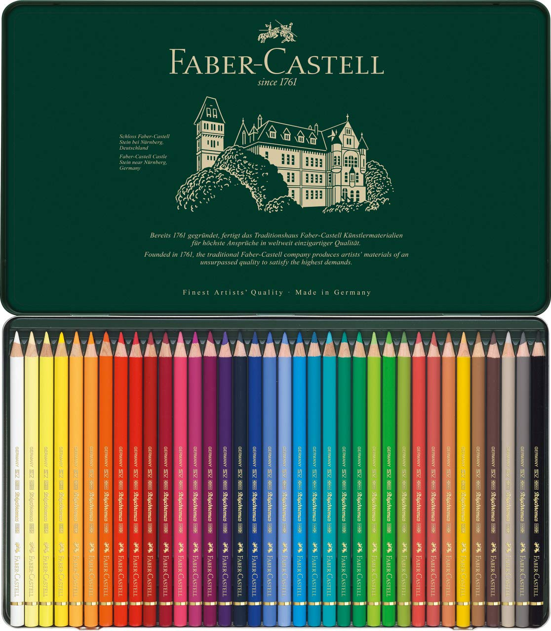 Polychromos 36 Pencil Metal Tin Set by Faber-Castell (Image #3)