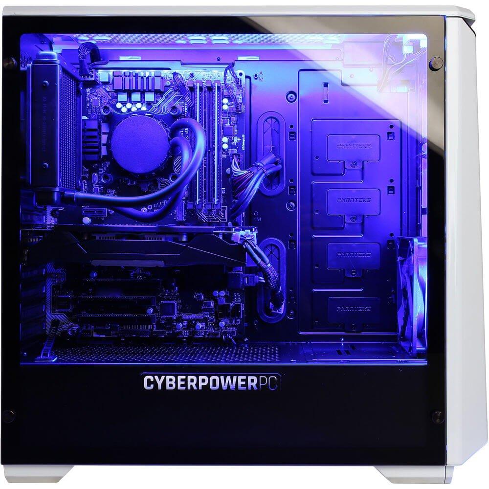 CyberpowerPC GLC5200CPG 3.7GHz i7-8700K 8ª generación de procesadores Intel® CoreTM i7 Negro, Plata PC PCs/estación de trabajo - Ordenador de sobremesa (3,7 ...