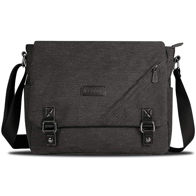 f8662eaa2865 ibagbar Water Resistant Messenger Bag Satchel Shoulder Crossbody Sling  Working Bag Bookbag Briefcase Fits 14 Inch