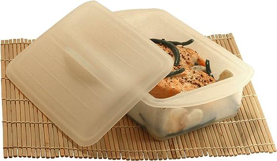 DiBocati #1 Estuche de Vapor 2-3 Personas. Recipiente para cocinar Recetas sanas y fáciles al microondas y en Papillote. 2 AÑOS Garantía de Recambio.: Amazon.es: Hogar