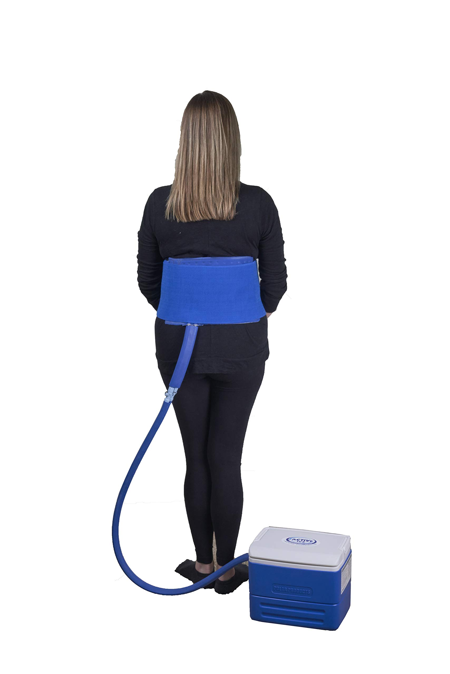 Active Ice® 3.0 Back & Hip Therapy System w/Digital Timer Includes Lumbar and Hip Bladder, 9 Quart Cooler by Polar Products Inc.