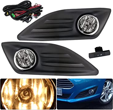 Clear For 2014 Ford Fiesta LED Fog Lights Replacement