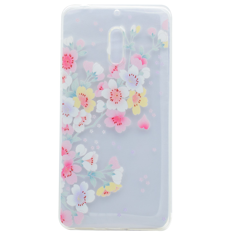 Cozy Hut Nokia 6 Case Cute 3d Dream Color Flowers Peonia Electroplating Transparent Ultrathin Samsung J7 Pro 2017 Electronics