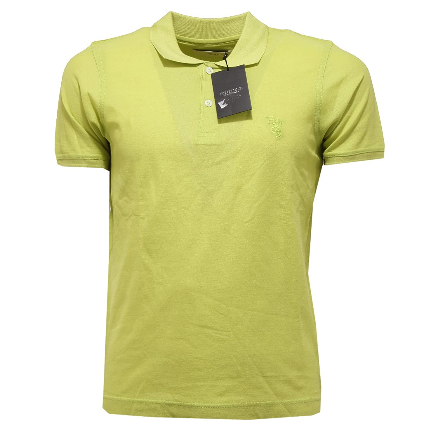 2217Q polo PRINGLE verde maglia manica corta uomo t-shirt men [S ...
