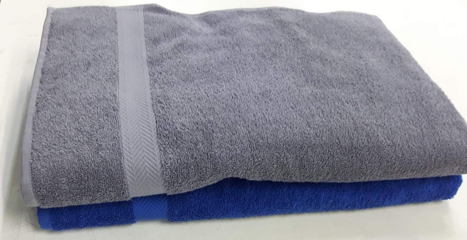 Extra Large Bath Towel Set of 4 100% Cotton Turkish Towels Premium Hotel Spa Quality, Soft Absorbent Oversized and Heavy Bath Sheet, 950 Grams - 39 Ounces (Large 40 87 Inch) Pack 4, (Grey)
