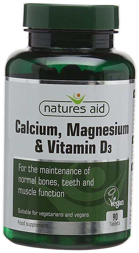 Calcium Magnesium and Vitamin D3 Food Supplement (90 Capsules) - Natures Aid