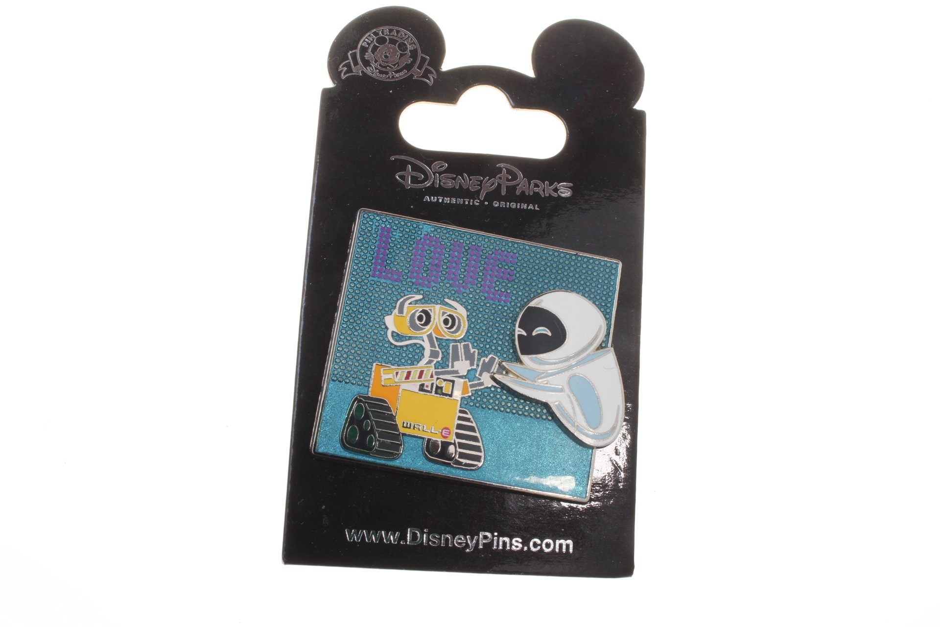Disney Wall-E and Eve ''Love'' Pin by Theme Parks (Image #2)