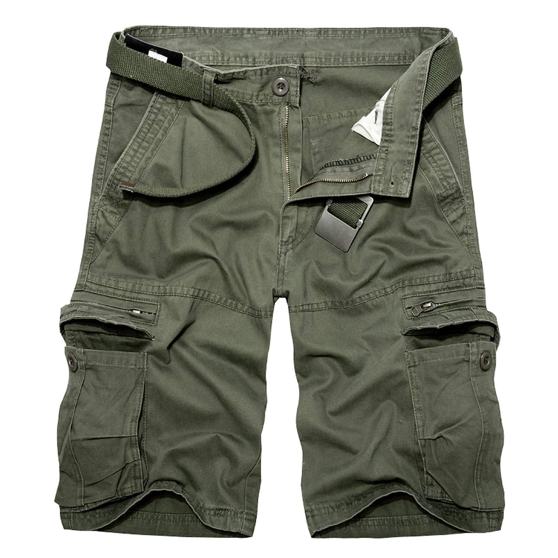bb2b232d9e ... Black 2019 Mens Military Cargo Shorts Shorts Shorts Summer Army Green  Cotton Shorts Men Loose Multi ...