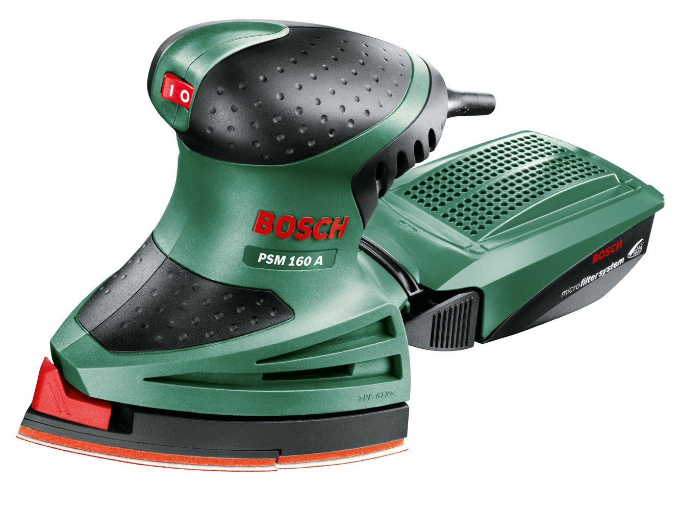 Bosch PSM 160 A - Multilijadora, 3 hojas de lija, maletín (160 W