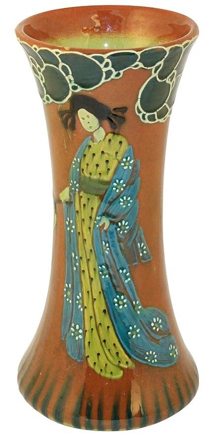 Amazon Weller Pottery Jap Birdimal Squeeze Bag Portrait Vase