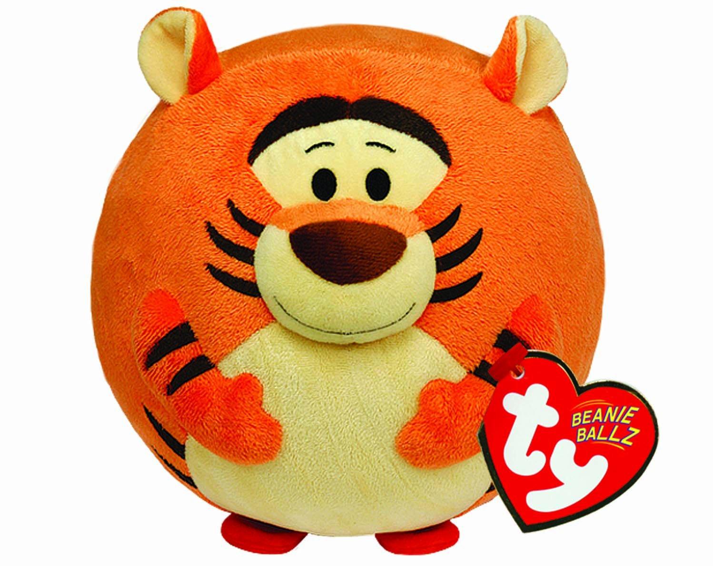 Ty - Bola de peluche con diseño de Tigger y sonido, 15 cm, color naranja (United Labels 58100TY)